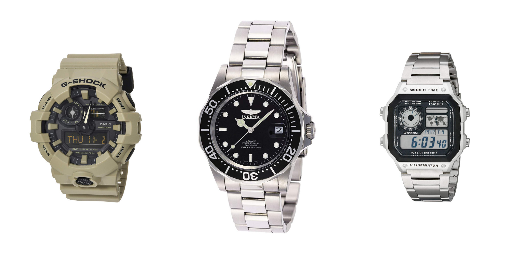 This Invicta Pro Diver Watch offers 200-meter water resistance for $49.50 (Reg. $80), more from $21