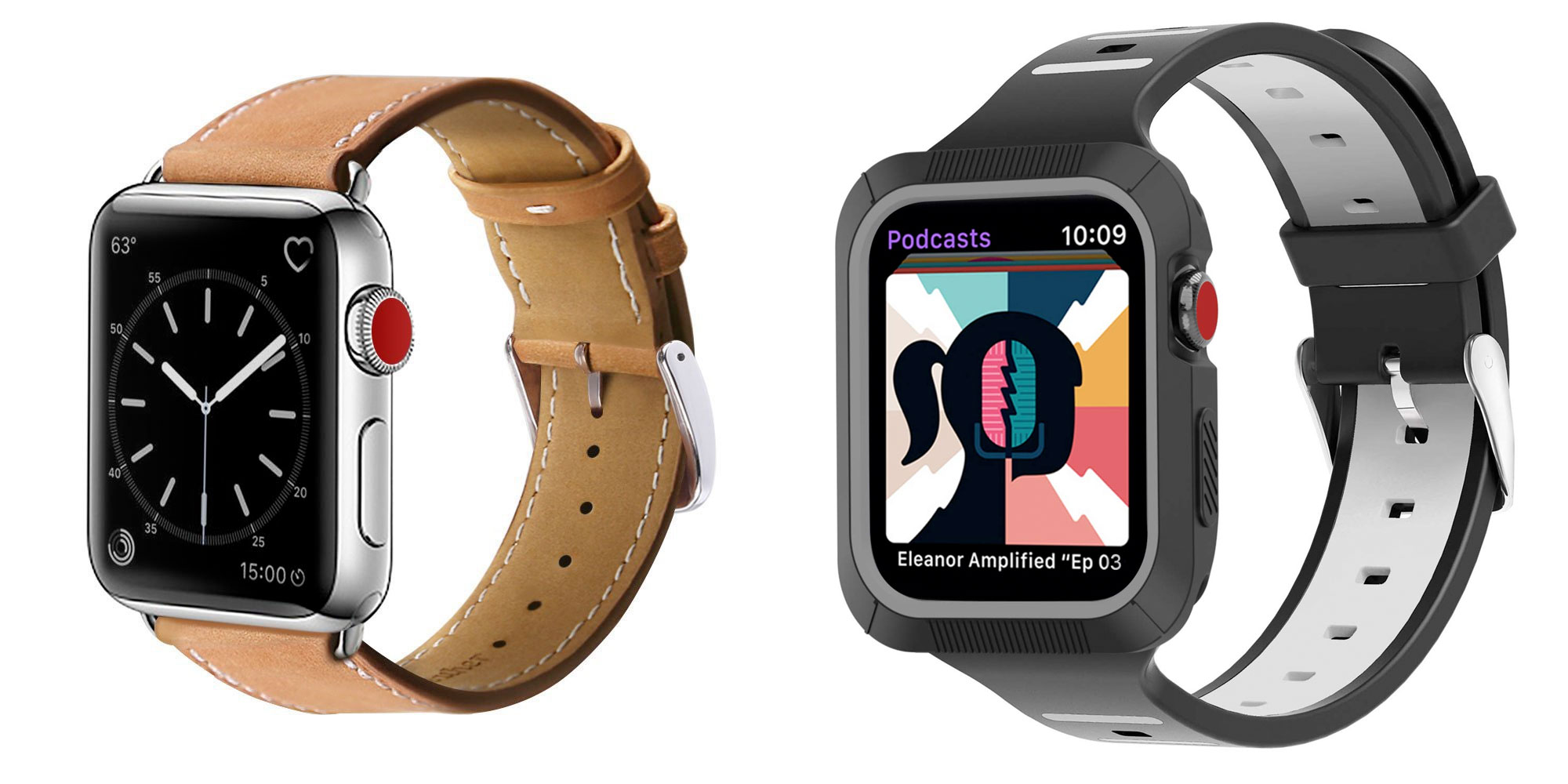 Make your Apple Watch ready for any occasion w/ these leather or silicone bands from $6