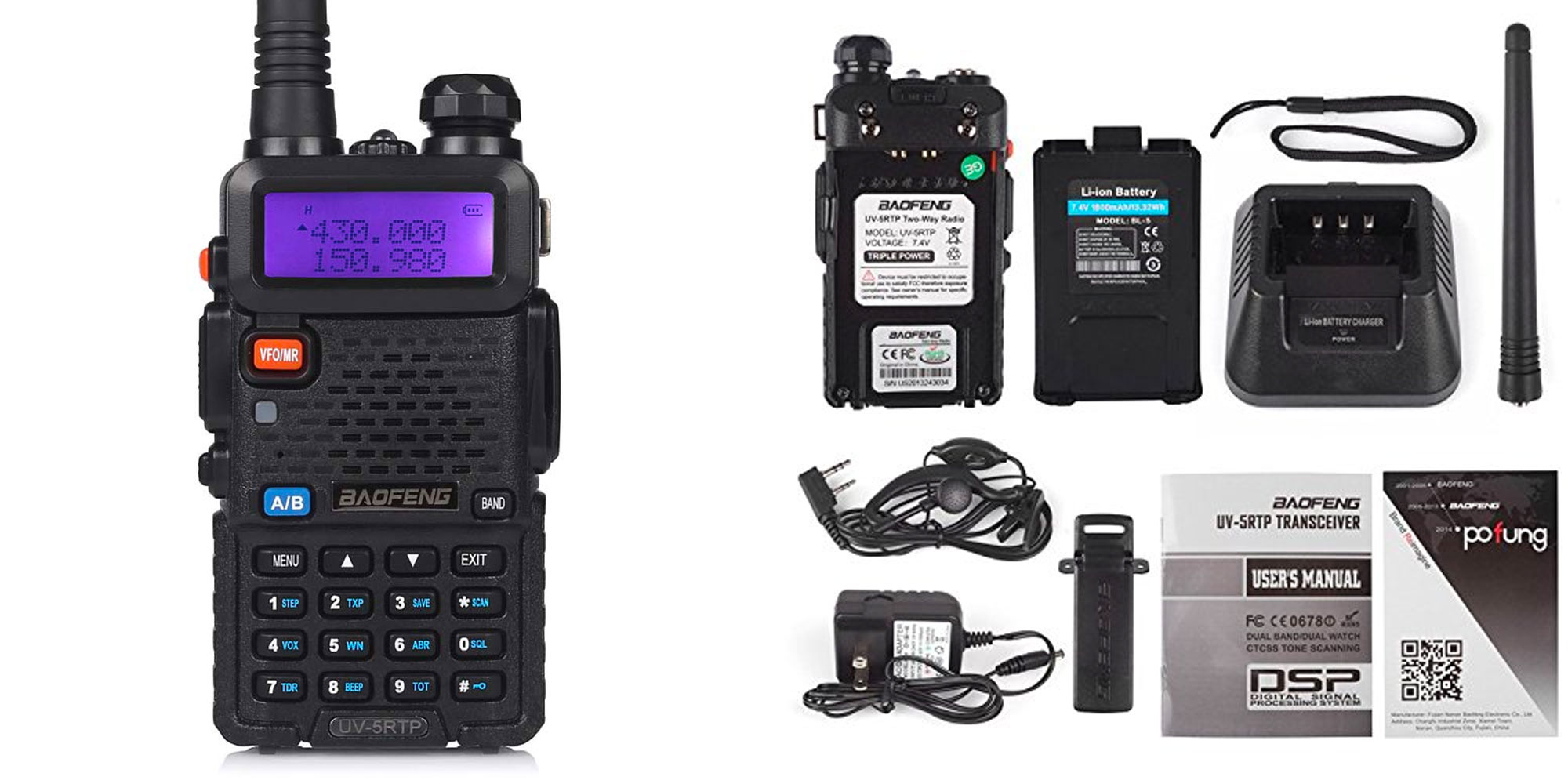 This rechargeable tri-power two-way radio also works as an FM receiver for $31 (Reg. $40)