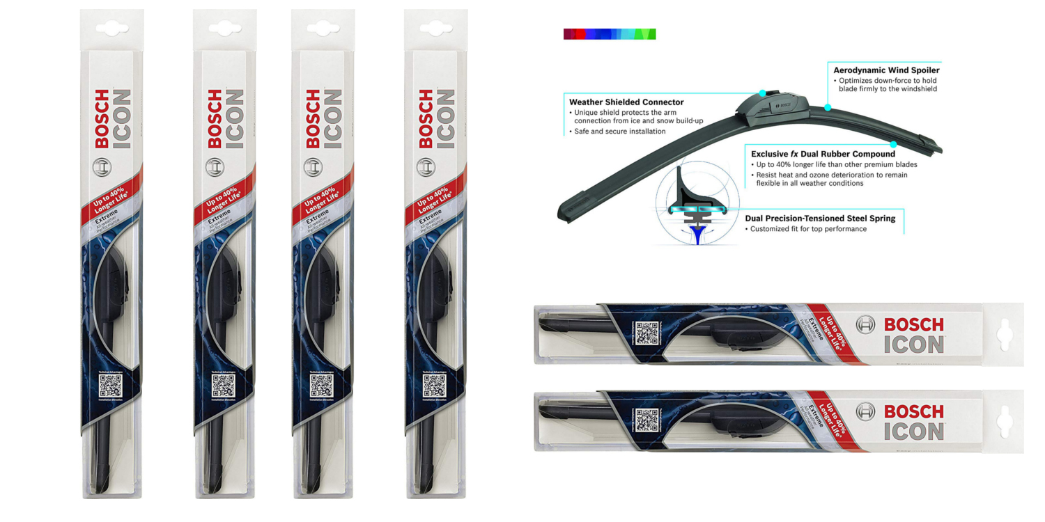 Bosch's highly-rated Wiper Blades now available from just over $3 at Amazon (Up to 50% off)