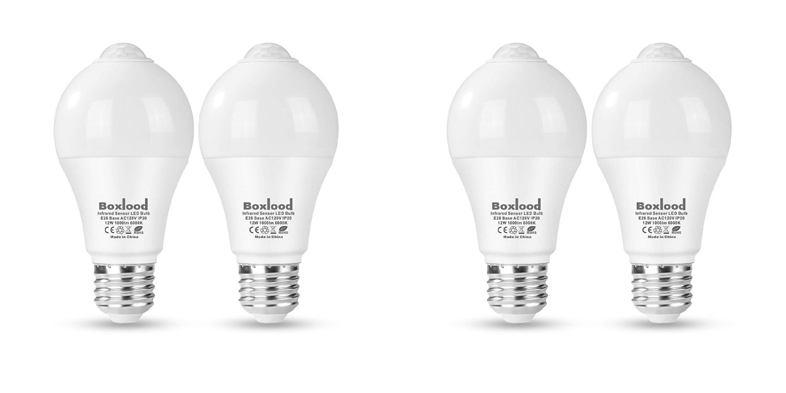 These LED bulbs have built-in motion sensors, are outdoor safe & automatically shut off for $10