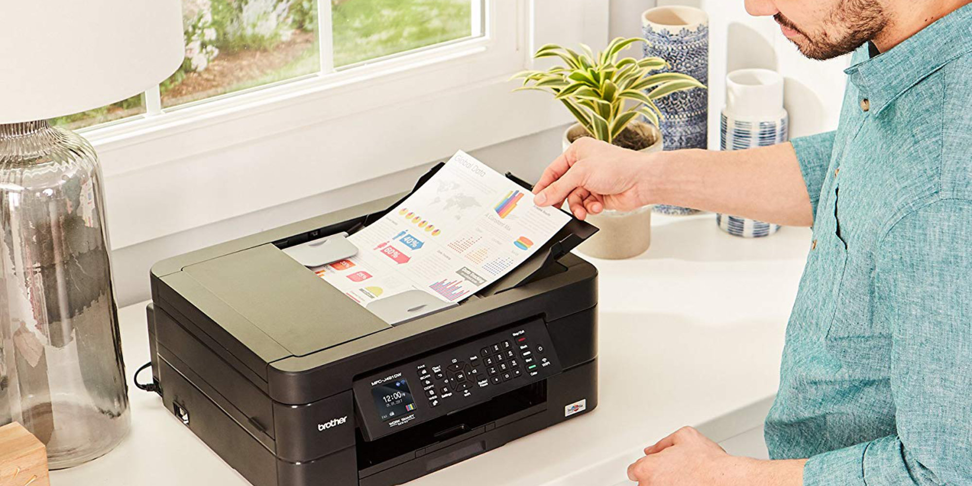 AirPrint and Google Cloud Print, make this Brother AiO a versatile office solution: $50 (Reg. up to $80)