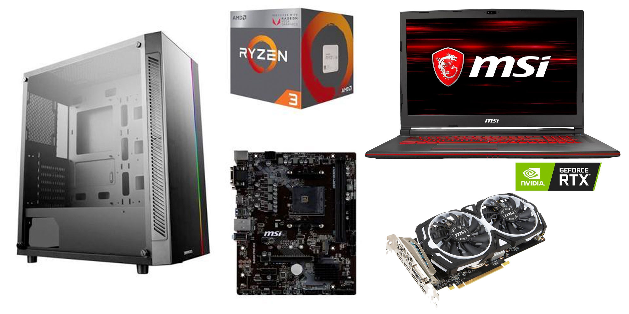 PC Gaming Deals from $20: RTX 2060 laptops, case/processor/motherboard bundle, more