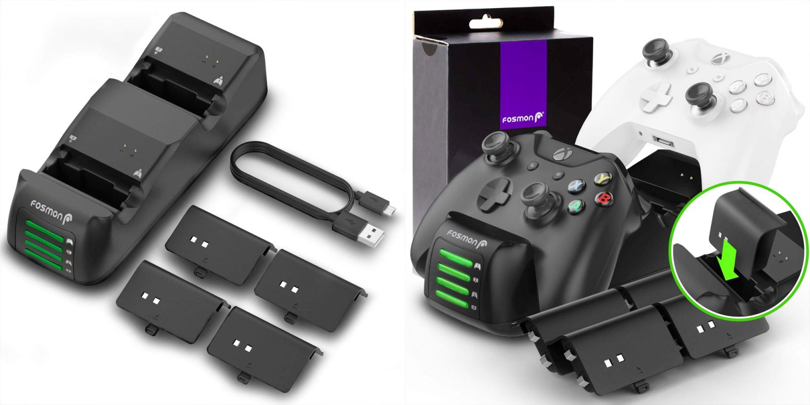 quality design f371e 10239 Keep up to four Xbox One controllers ready to go w  Fosmon s new Quad Pro  Charging Station
