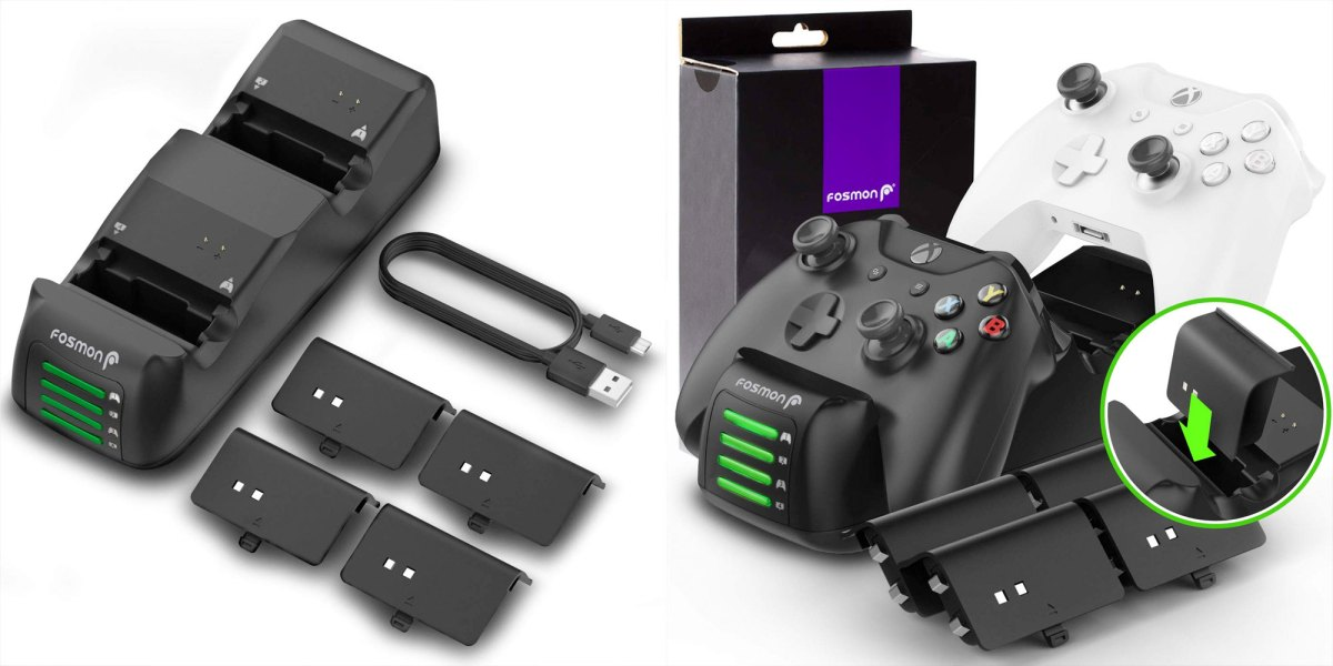 Fosmon Quad Pro Controller Charging Station for Xbox One