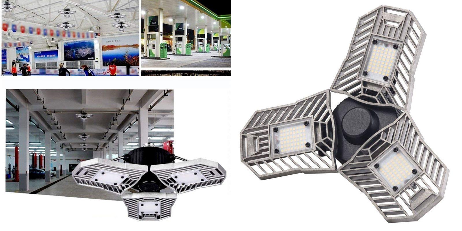 Enjoy a brighter garage w/ a motion-sensing 6,000 lumen LED light: $32.50 (Reg. $50)