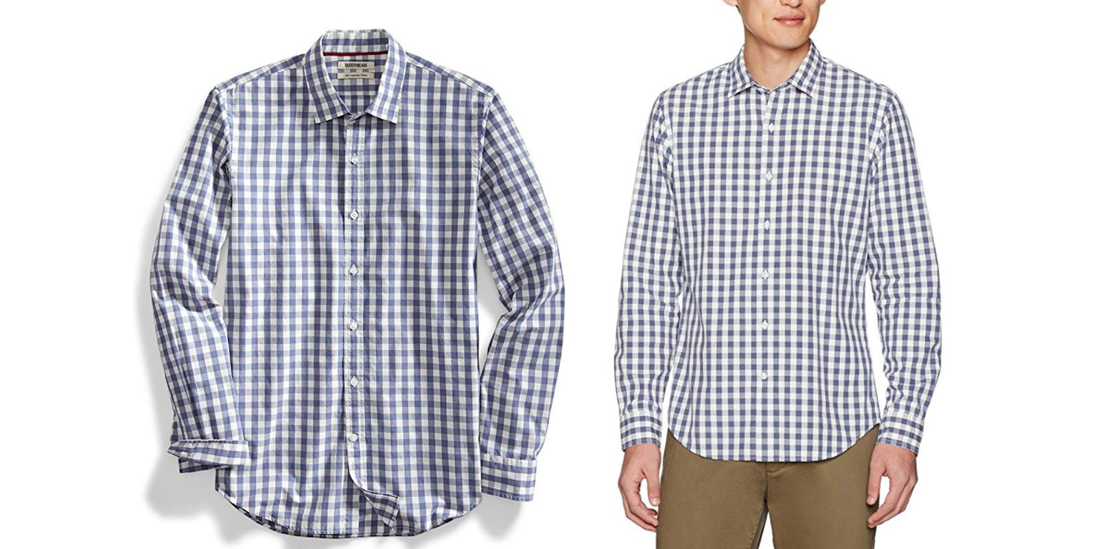 8d19df813e5e7 Amazon's Goodthreads offers its men's Gingham Poplin Shirt for $21 Prime  shipped