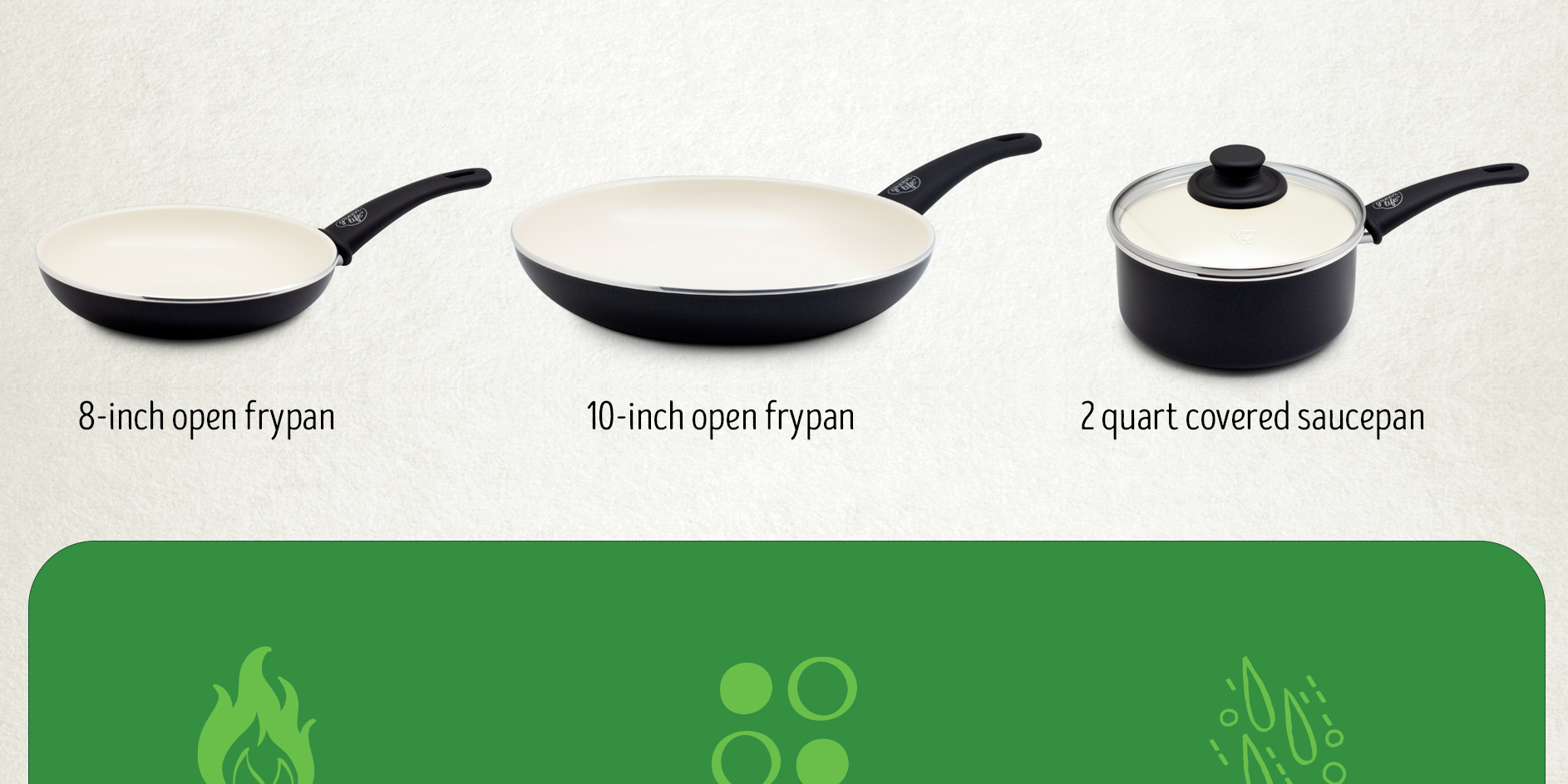 GreenLife's Ceramic Cookware Set w/ rubber handle holders is yours for $20 (Reg. up to $60) - 9to5Toys
