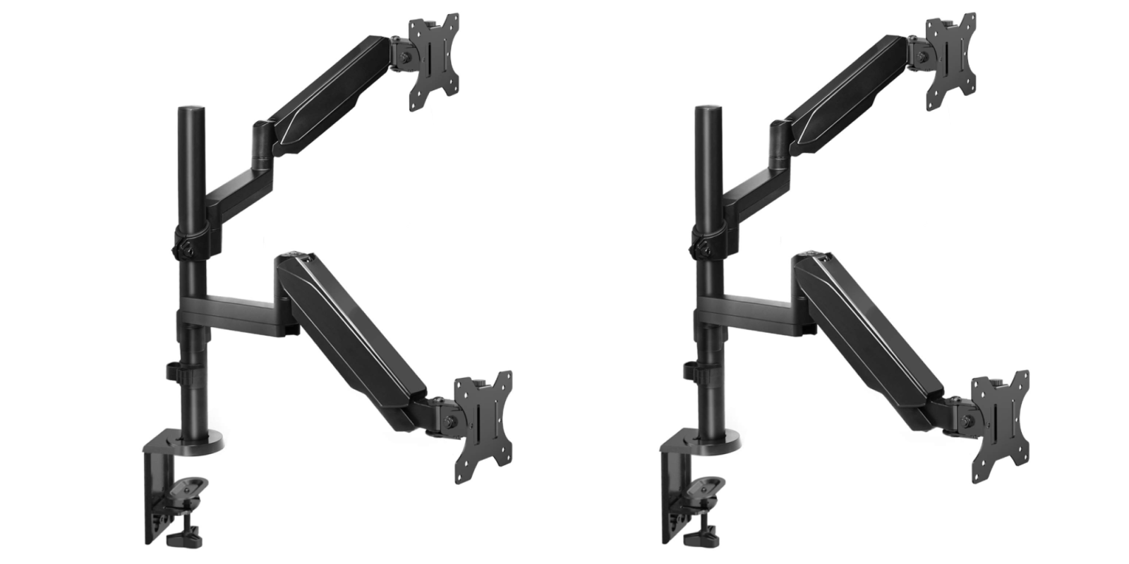 Elevate two monitors with this well-reviewed dual arm gas spring mount at $42.50 (Reg. $70)