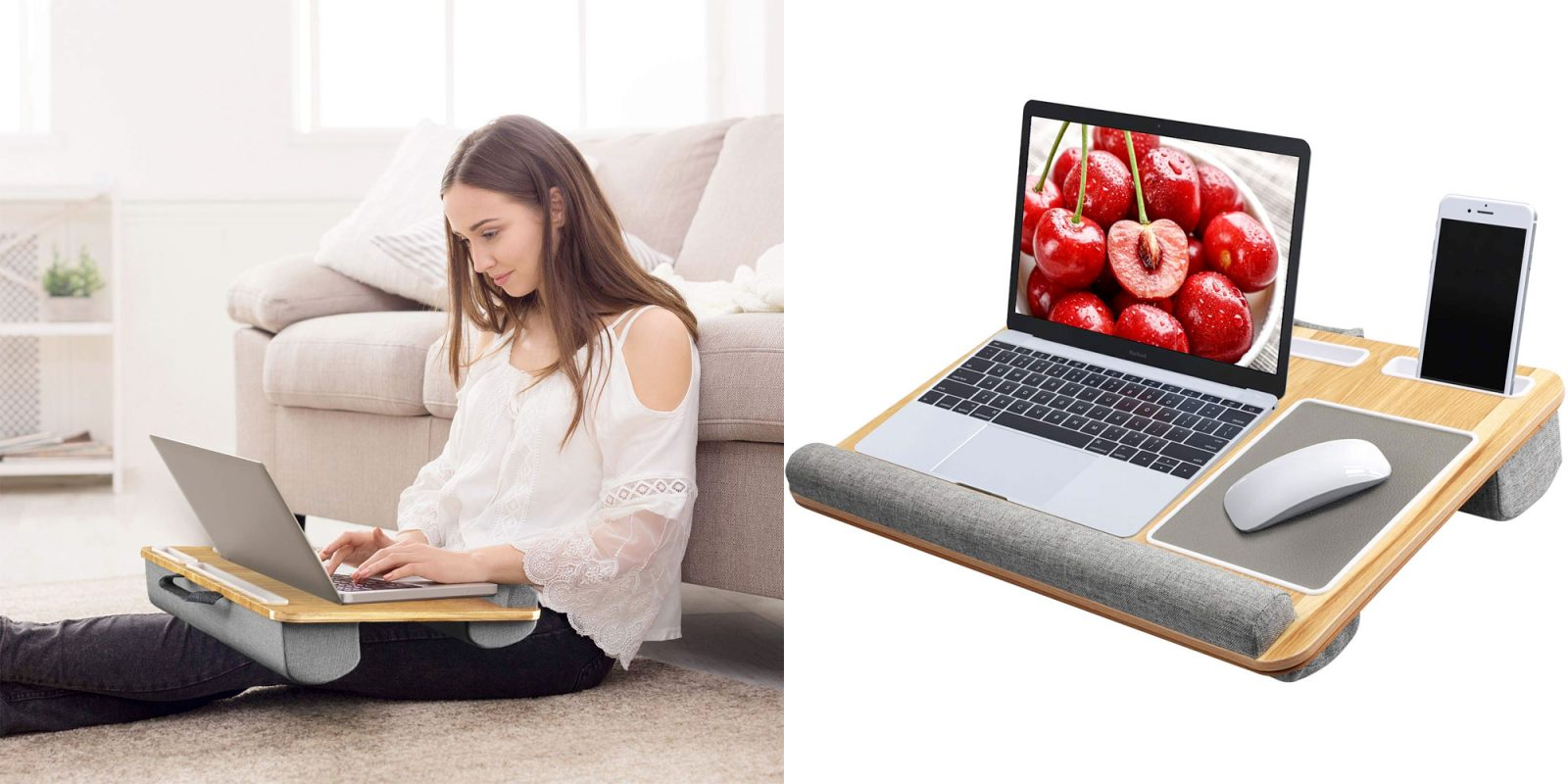 Enjoy working from your couch or bed w/ this highly-rated lap desk for $33 (Reg. $50)