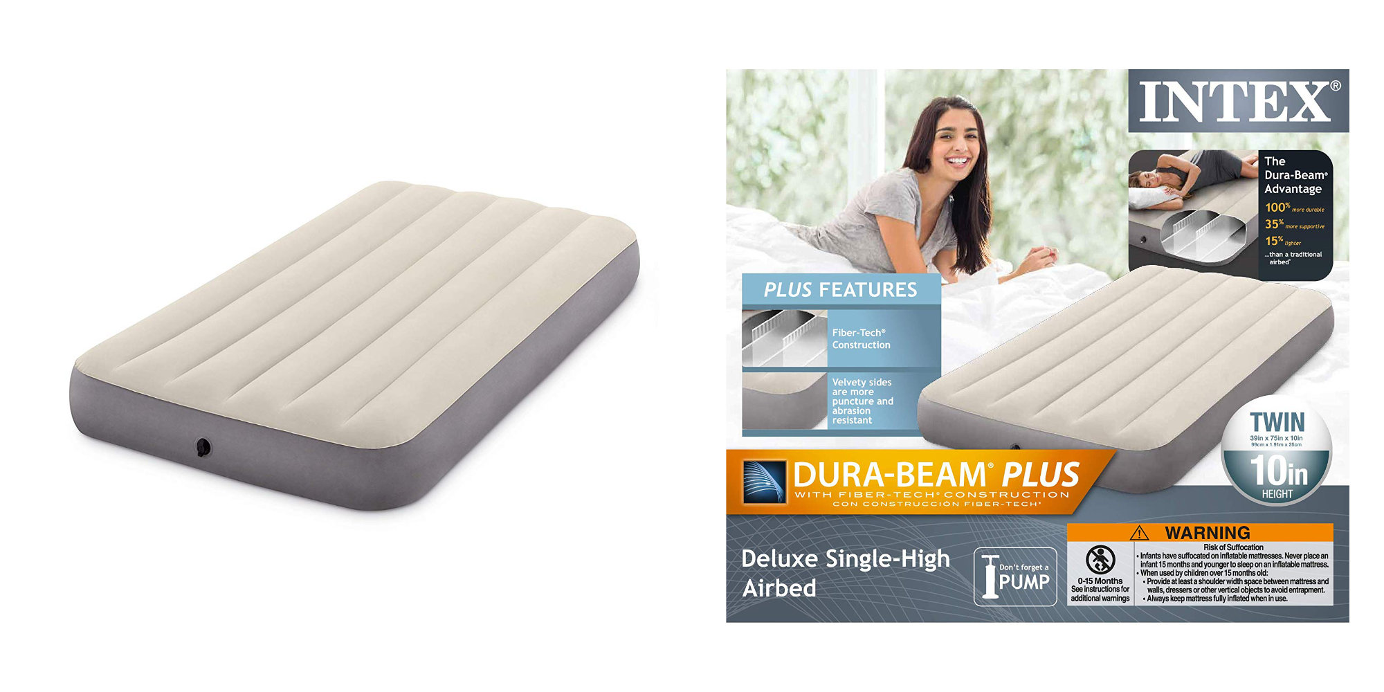Just $10 will score you an Intex Deluxe Twin Airbed at Amazon (Save 33%)