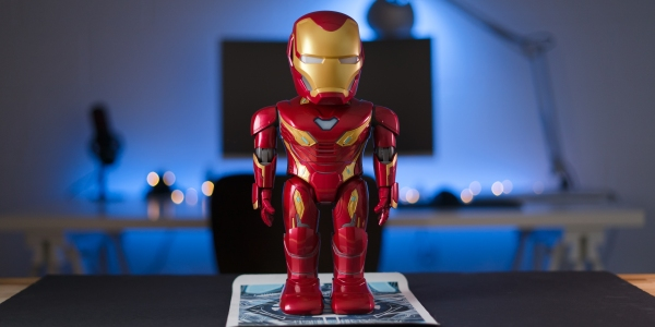 Iron Man MK50 robot on desk