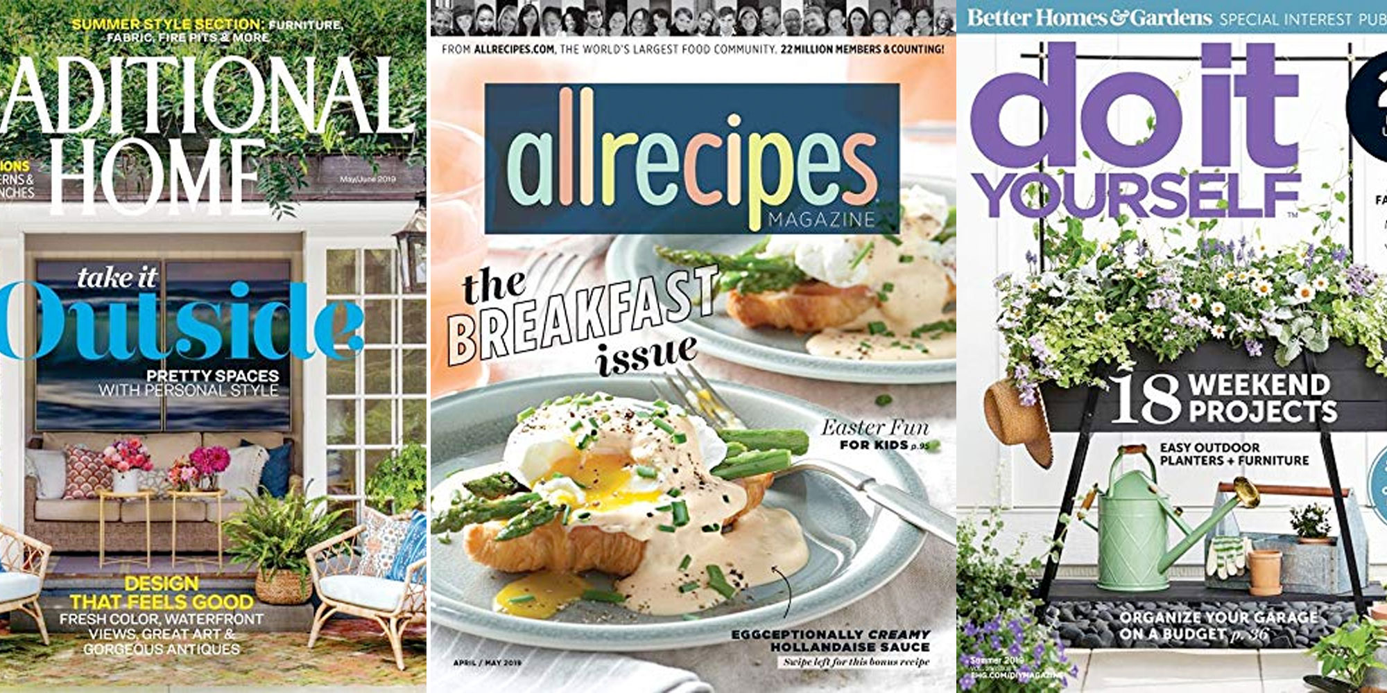 Conquer meals & projects w/ Allrecipes, Do It Yourself, other magazines in Amazon's Gold Box