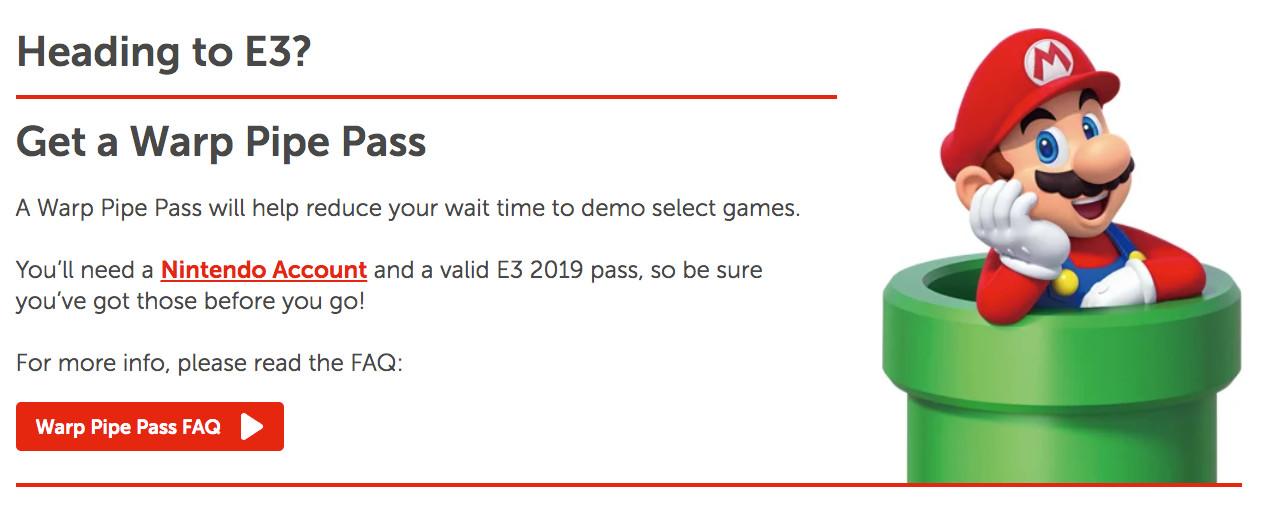 Nintendo E3 2019 Warp Pipe