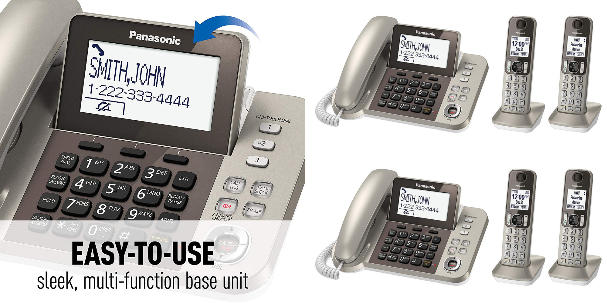 Panasonic's best-selling Cordless Home Phone System + baby monitor now $48 (Reg. up to $80)