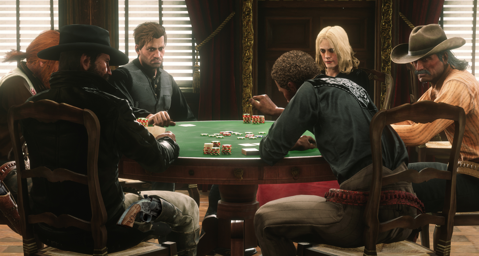 Red Dead Online role-playing systems and poker tables