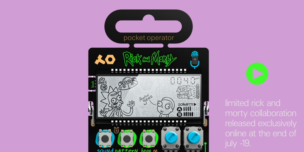 Rick and Morty Pocket Operator unveiled