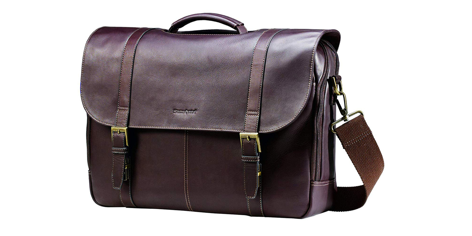 Samsonite's MacBook-ready Columbian Leather Messenger Bag drops to $60 (All-time low) - 9to5Toys