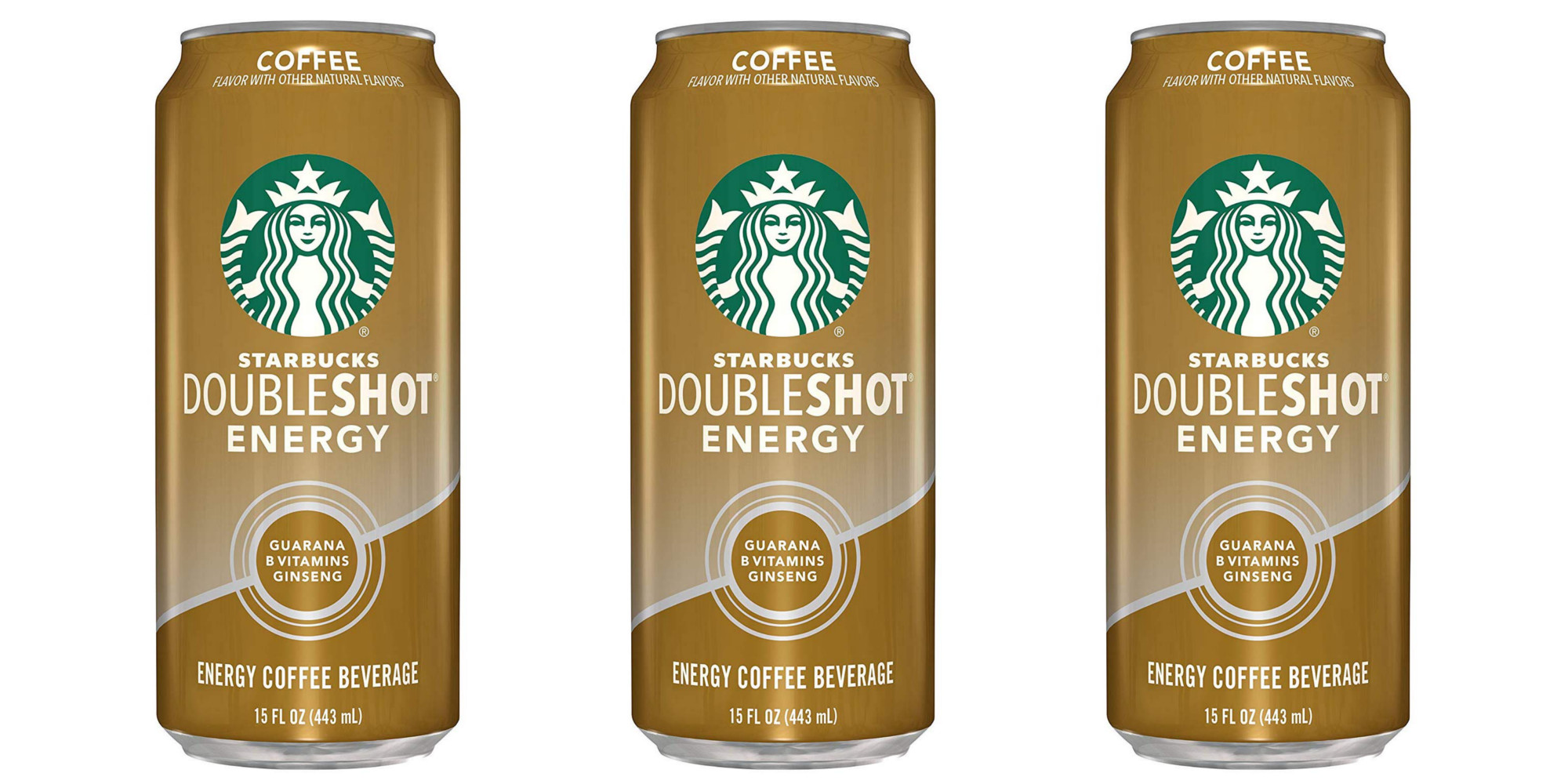 Get your caffeine fix w/ the Starbucks Doubleshot Coffee Drinks: 12-pack for $19 (Reg. $27)