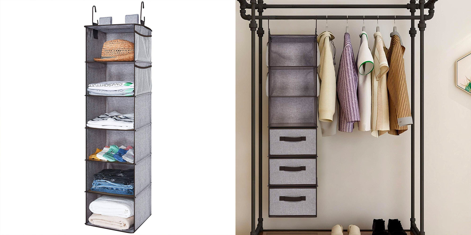 It's never to late to start spring cleaning w/ this hanging closet organizer for $13.50 Prime shipped