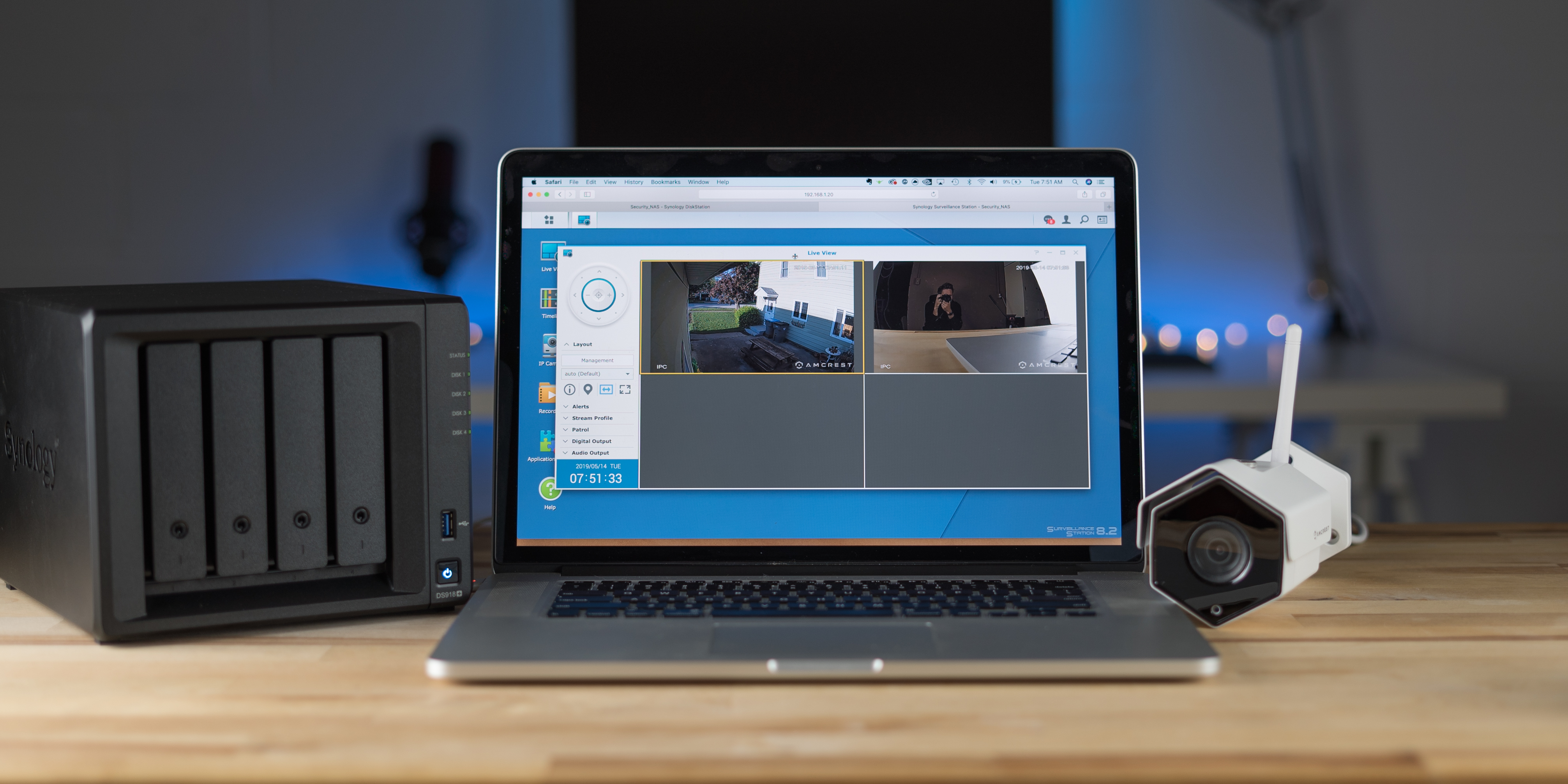 Synology Surveillance Station multi cam