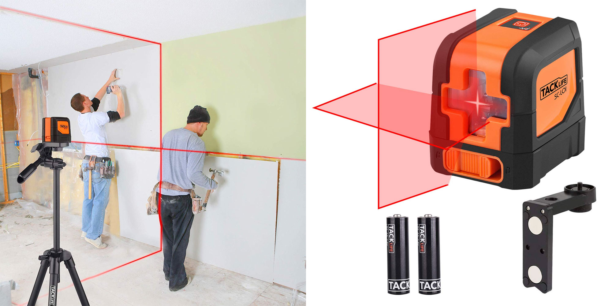 Make sure your drywall is perfectly straight w/ this 50-foot laser level at $27.50 shipped