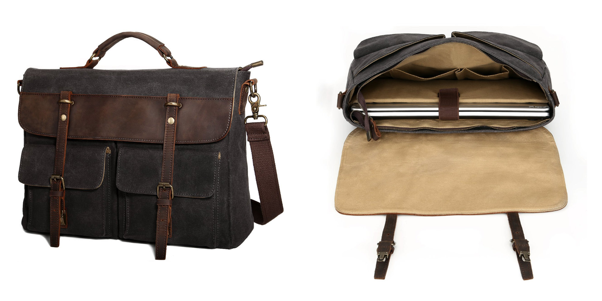 This MacBook-friendly leather messenger bag is down to $25 shipped (Reg. $50)