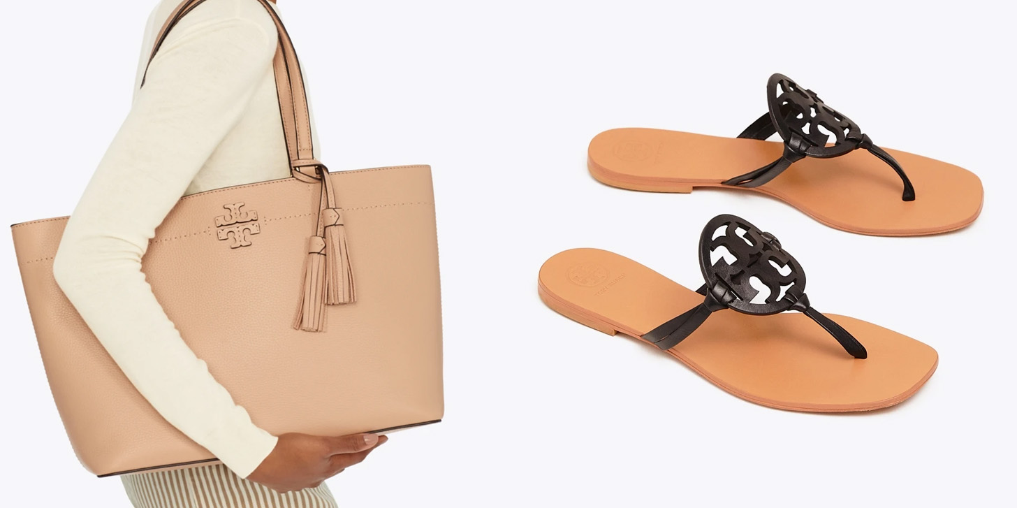 Tory Burch's Spring Sale refreshes your handbags, accessories, apparel & more + free shipping