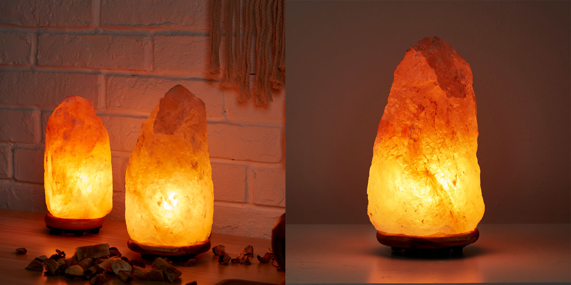 Add ambiance to any room w/ a 7-10 pound Himalayan salt lamp for just $10 at Walmart