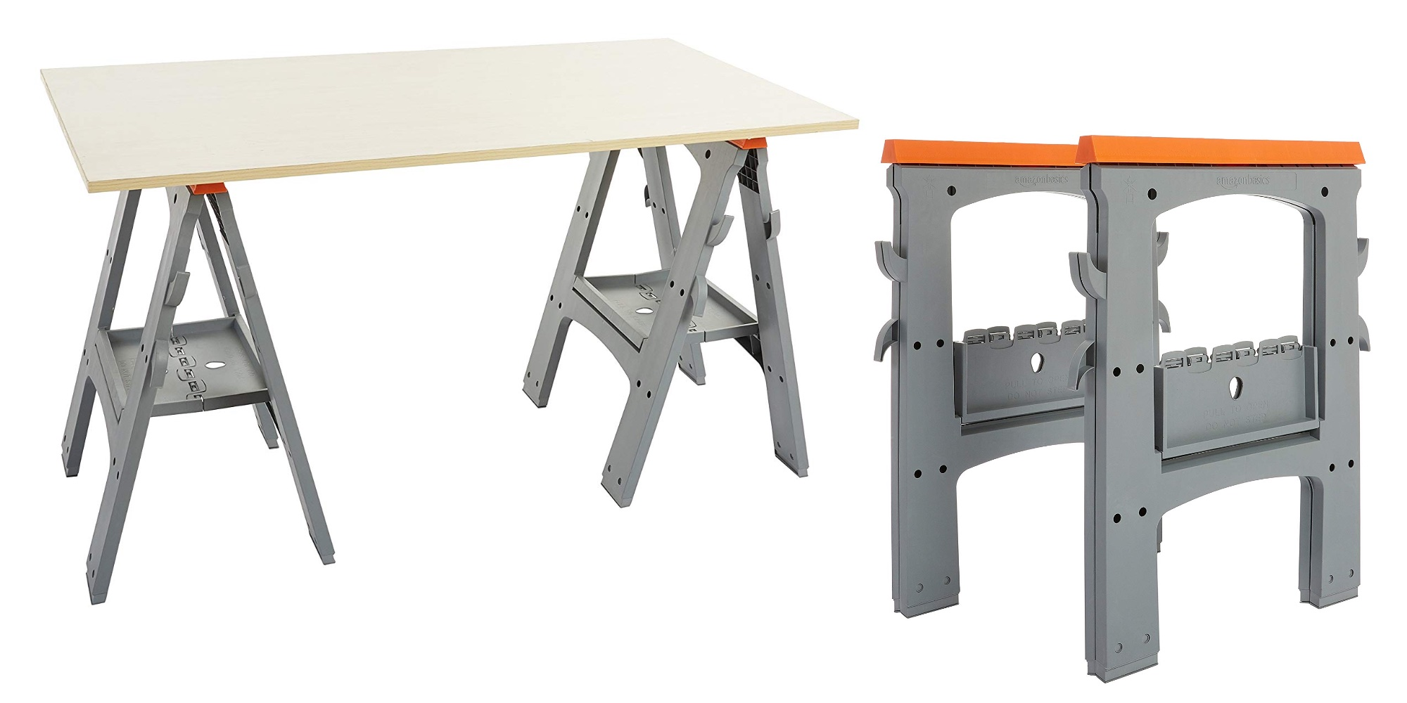 Add two of Amazon's in-house Folding Sawhorses to your kit at a new low at $25 (30% off)
