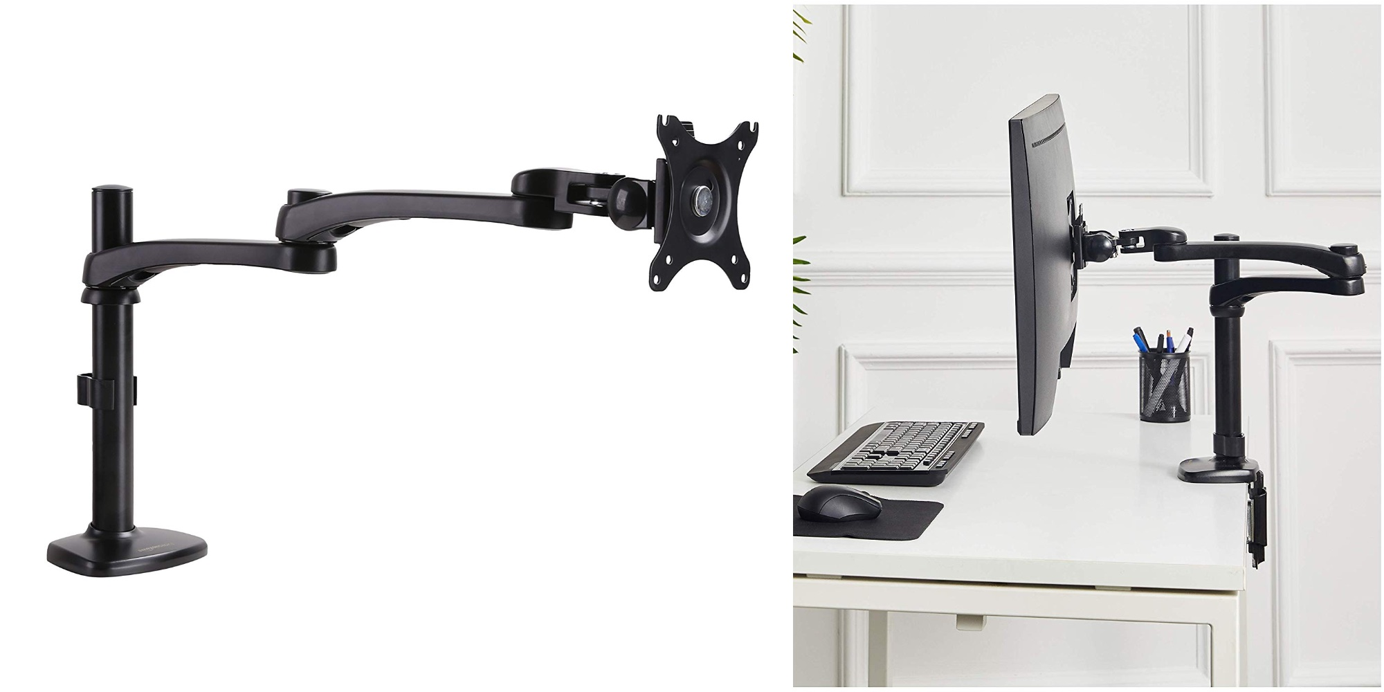 Give your display a boost with the AmazonBasics Monitor Arm at $15.50 (New low, Reg. up to $40)