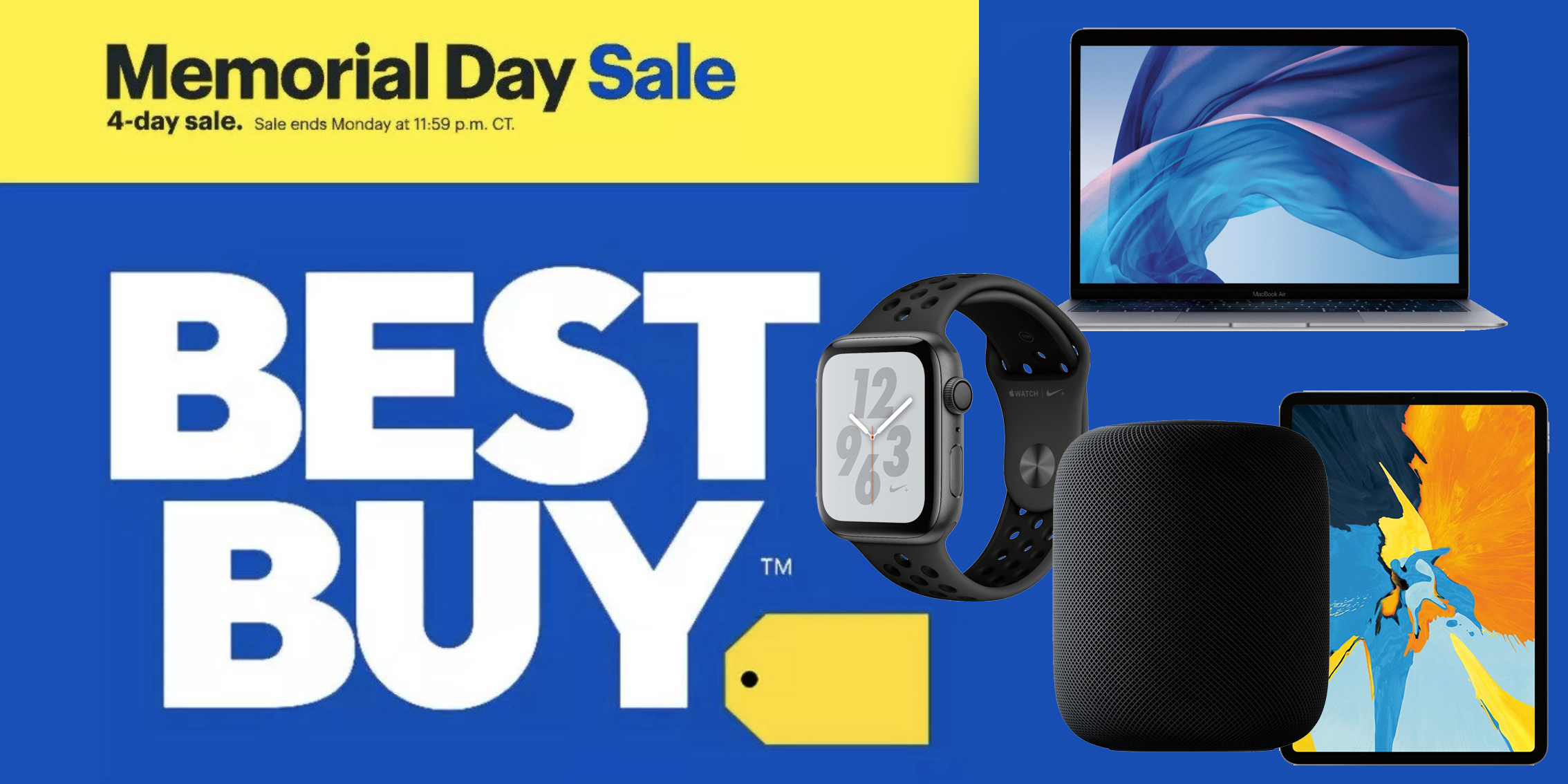 Best Buy Memorial Day Sale has deals on nearly every Apple product: MacBooks, iPads, Apple Watch, more