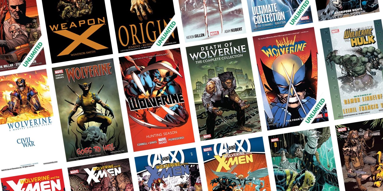 X-Men fans can save up to 67% off a selection of Wolverine digital releases at ComiXology from $1
