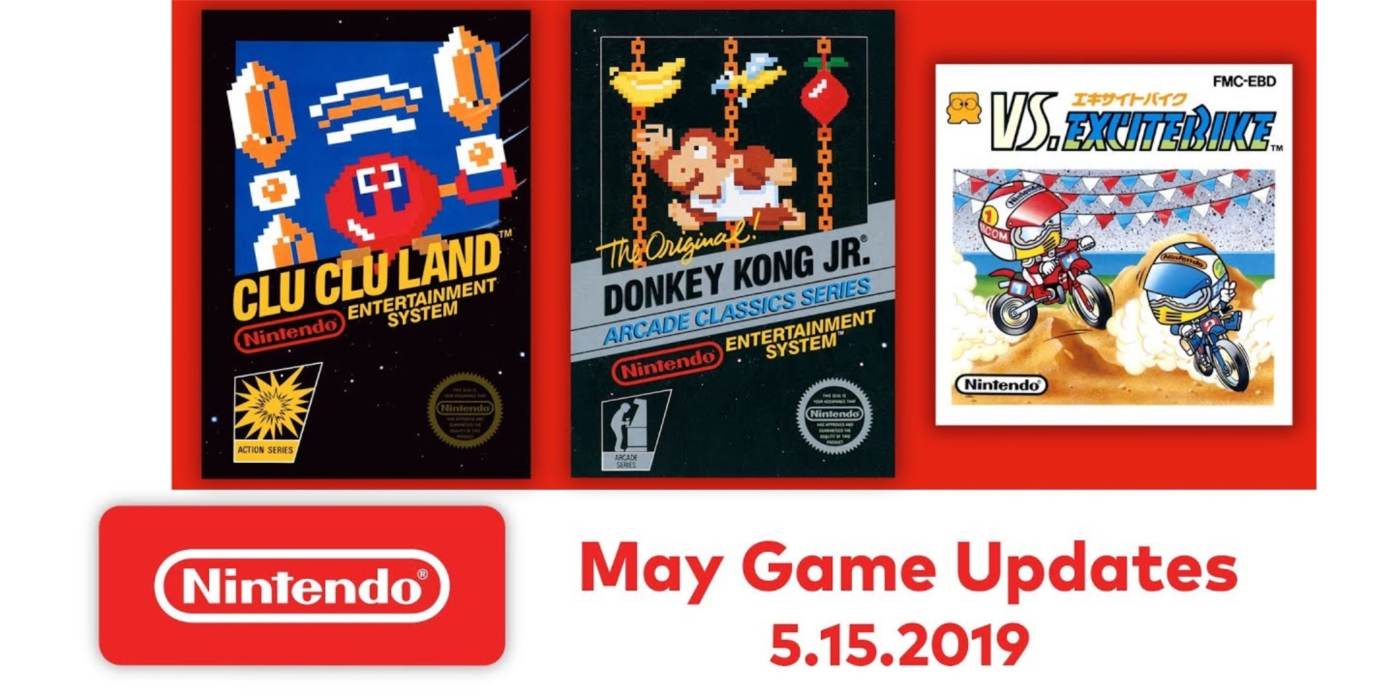 Nintendo Switch Online adds Donkey Kong Jr., VS. Excitebike and more to growing list of NES titles