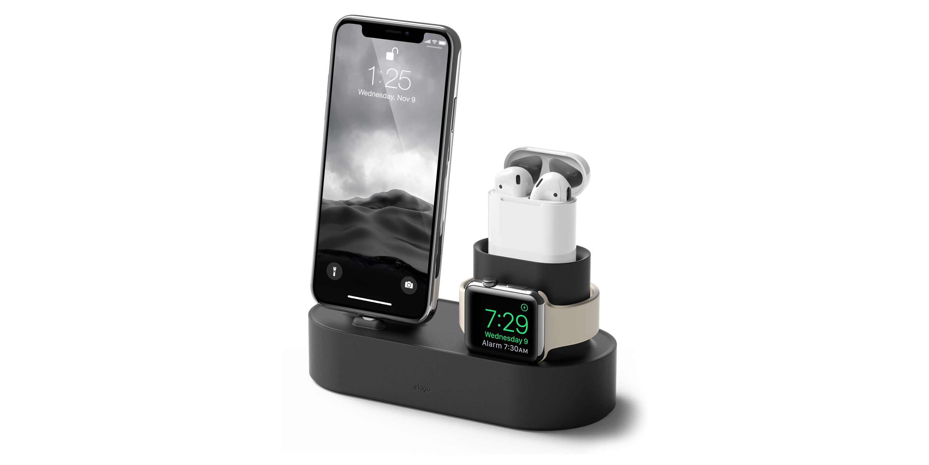 Elago Charging Hub delivers a home for your iPhone, Apple Watch and AirPods at $20