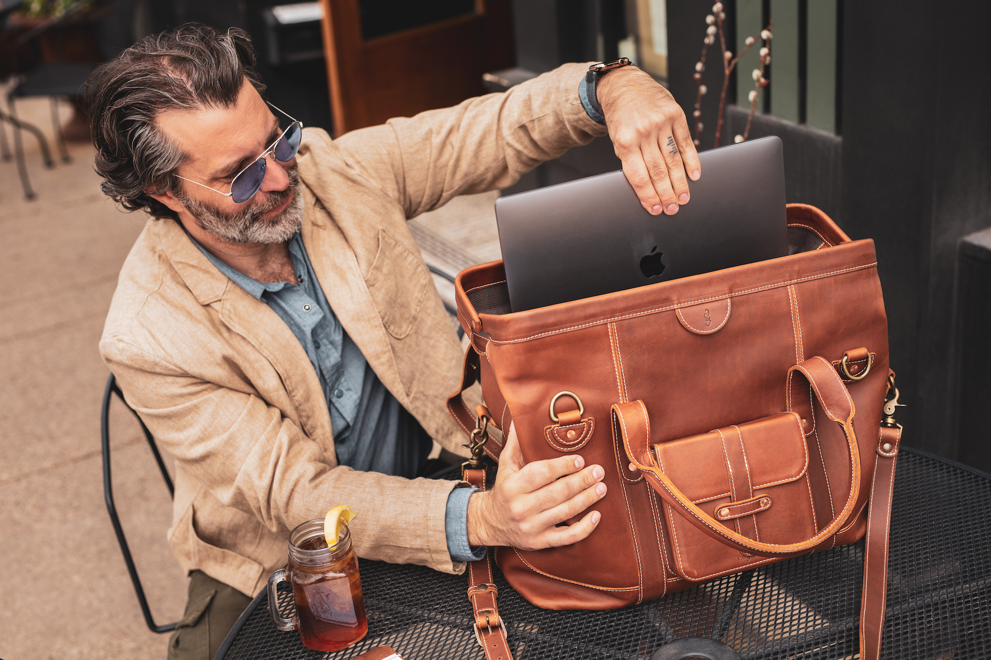 New leather MacBook bags from Pad & Quill
