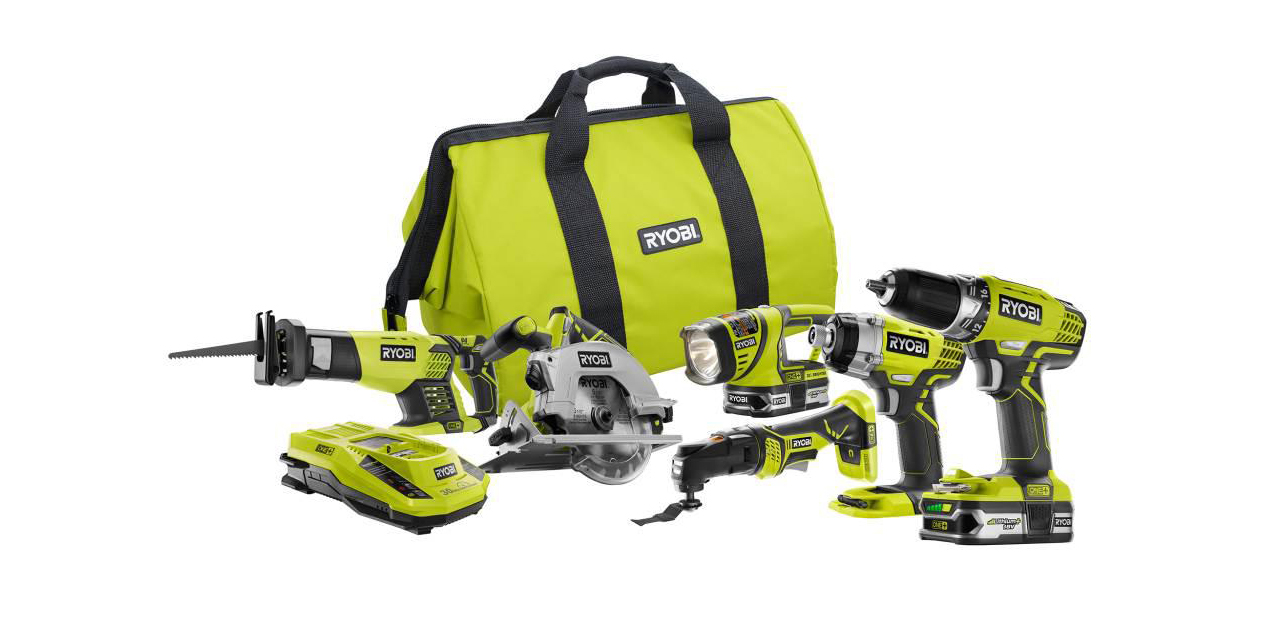 Home Depot offers this 6-tool Ryobi bundle with two batteries for $199 (Reg. $299)