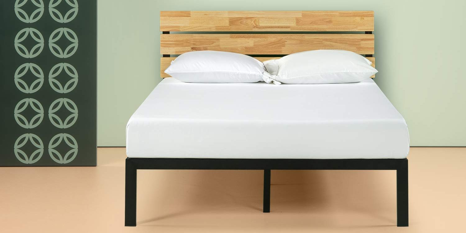Catch Some Z S In This Zinus Metal Amp Wood Platform Bed