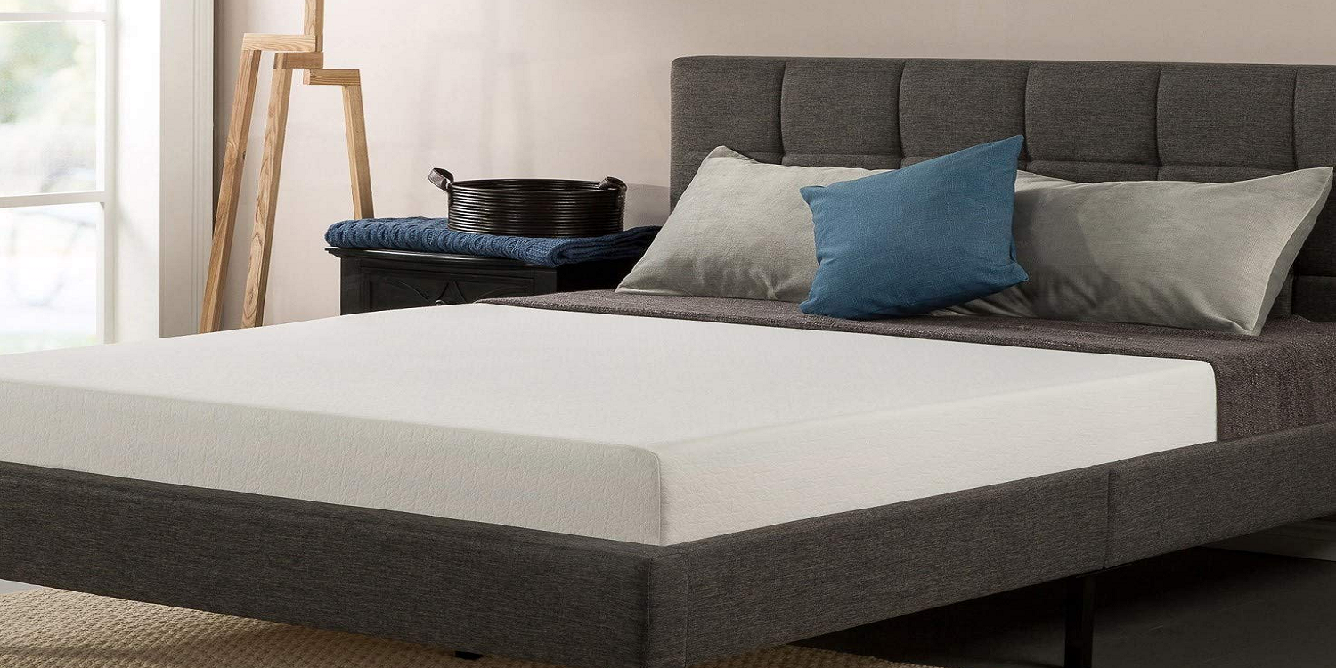 The Zinus Ultima King 8 Inch Memory Foam Mattress Is On