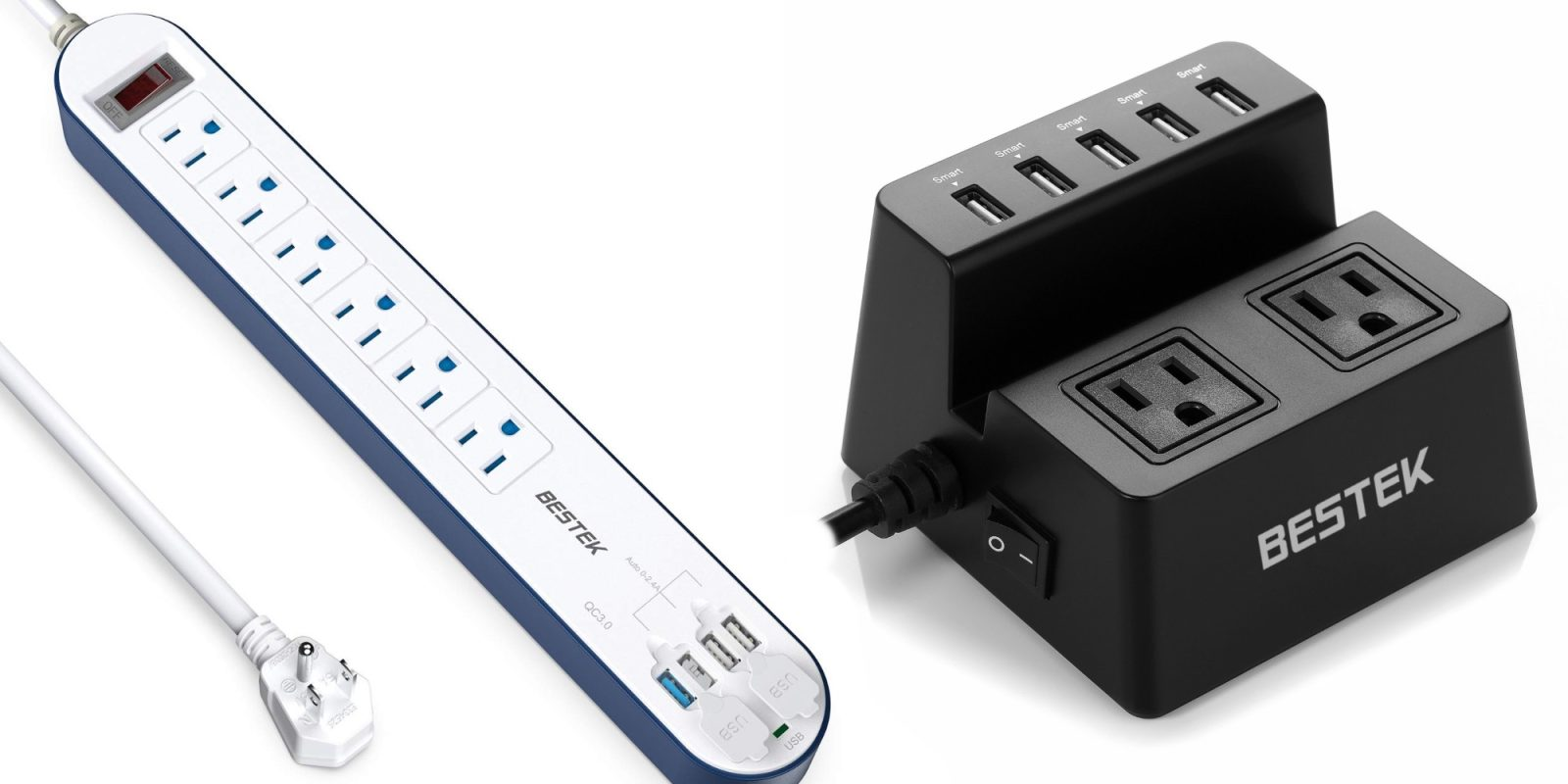 BESTEK's 40W Charging Station has 2 outlets + 4 USB ports: $20 (26% off), more