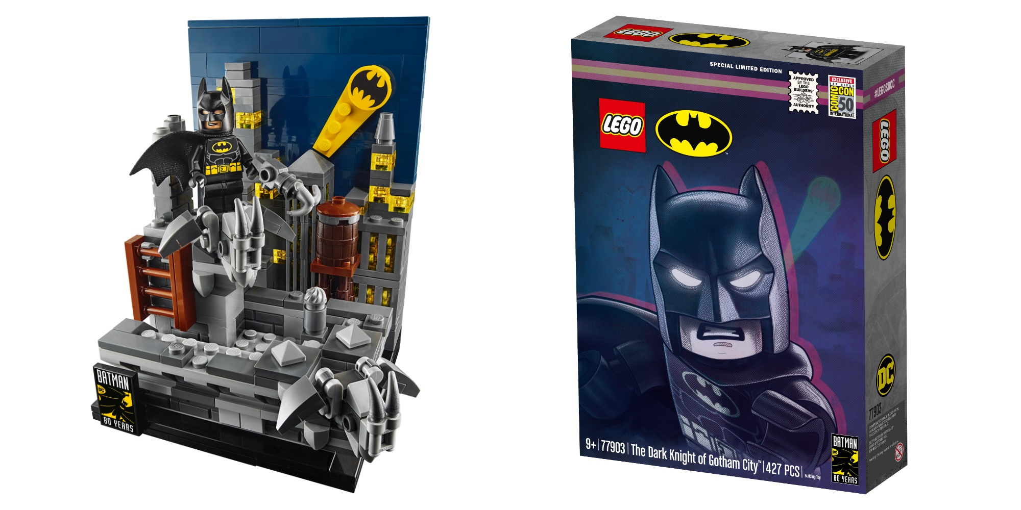 Lego Sdcc Batman Creates A Gotham City Vignette 9to5toys