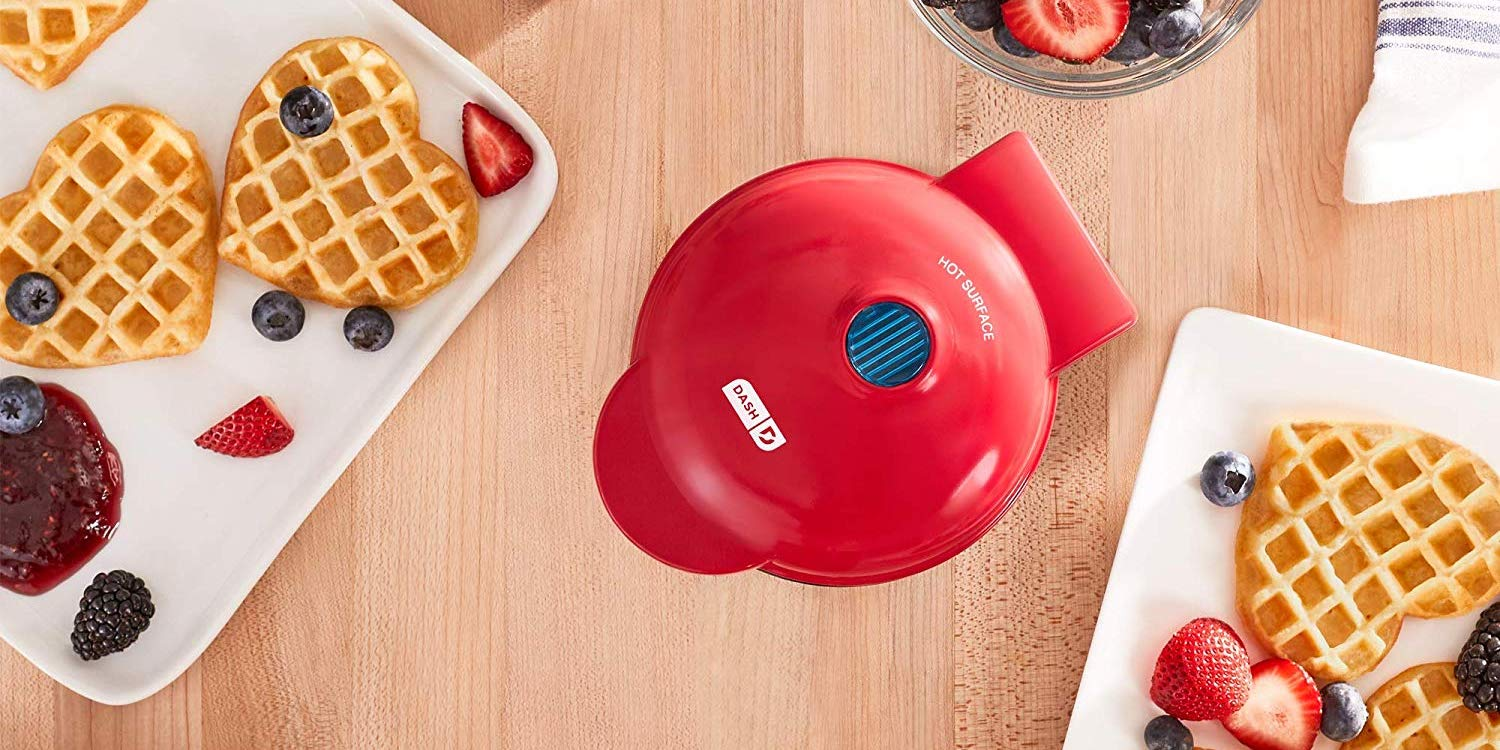This Dash Mini Iron makes heart-shaped waffles for $12 Prime shipped (20% off)