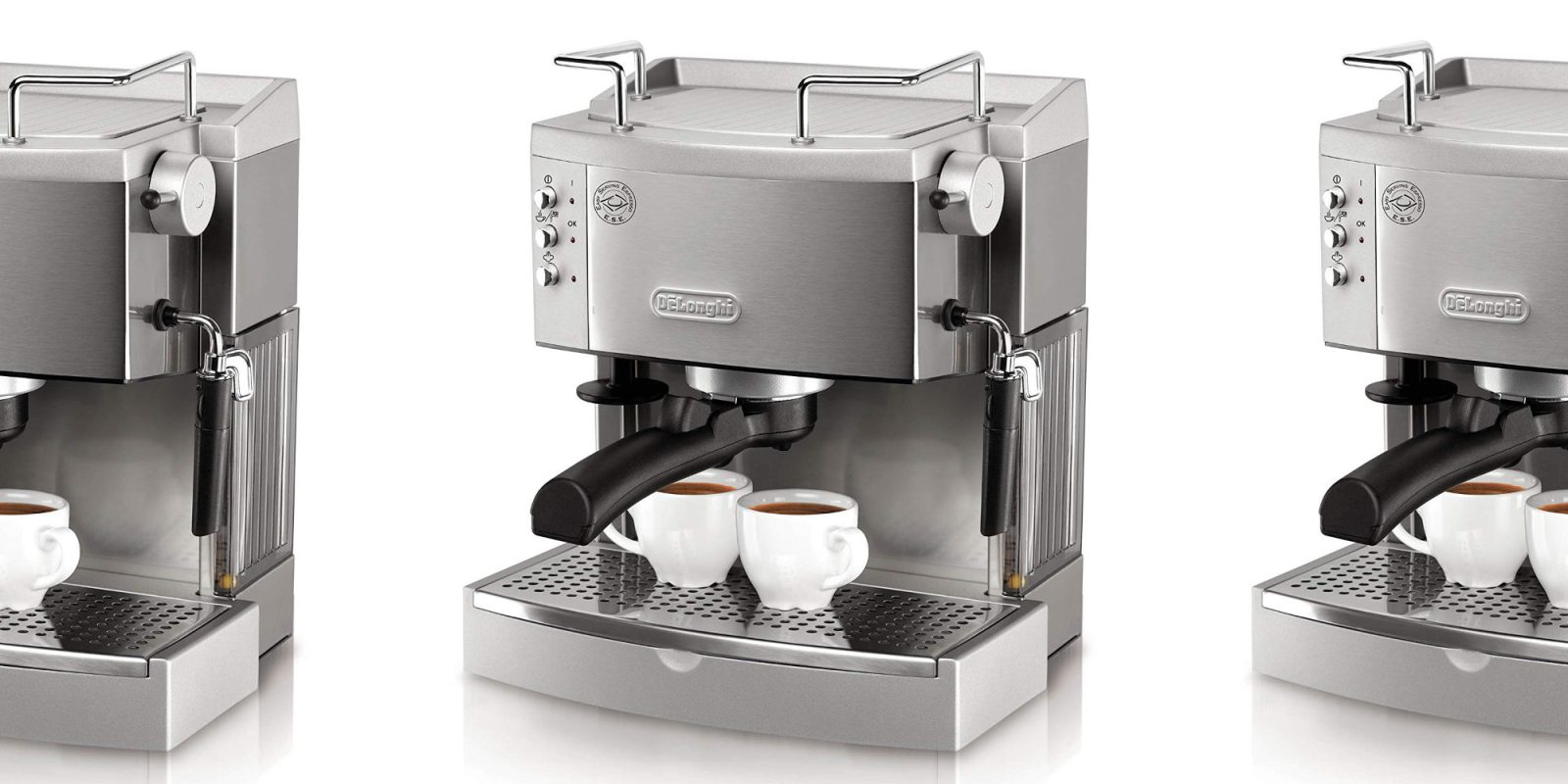 DeLonghi's stainless steel 15-Bar Pump Espresso Maker hits $144 (Reg. $180)