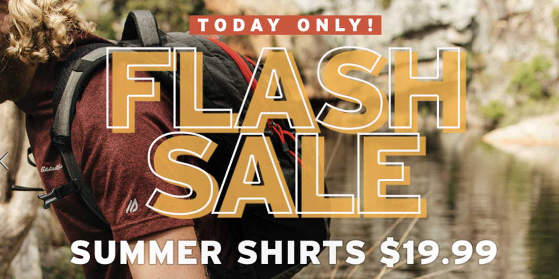 Eddie Bauer's gearing you up with summer shirts for just $20, today only