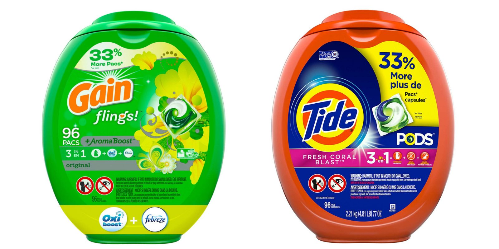 Amazon has Tide & Gain laundry pods at up to 40% off: 96-pack for $16