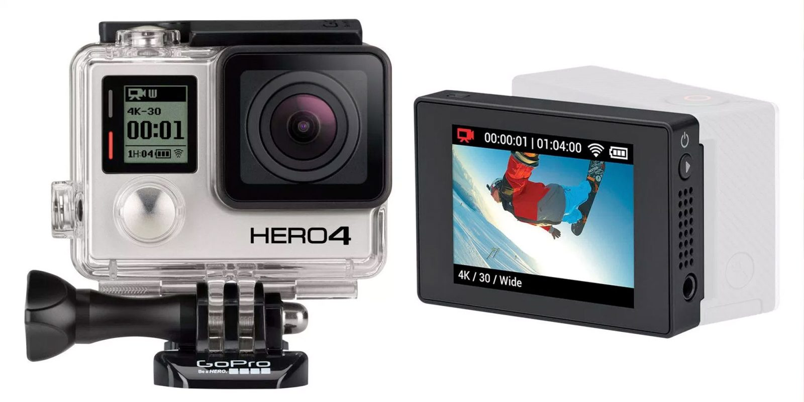 GoPro's HERO4 Black action camera shoots 4K for $88 (Refurb, Orig. $449)