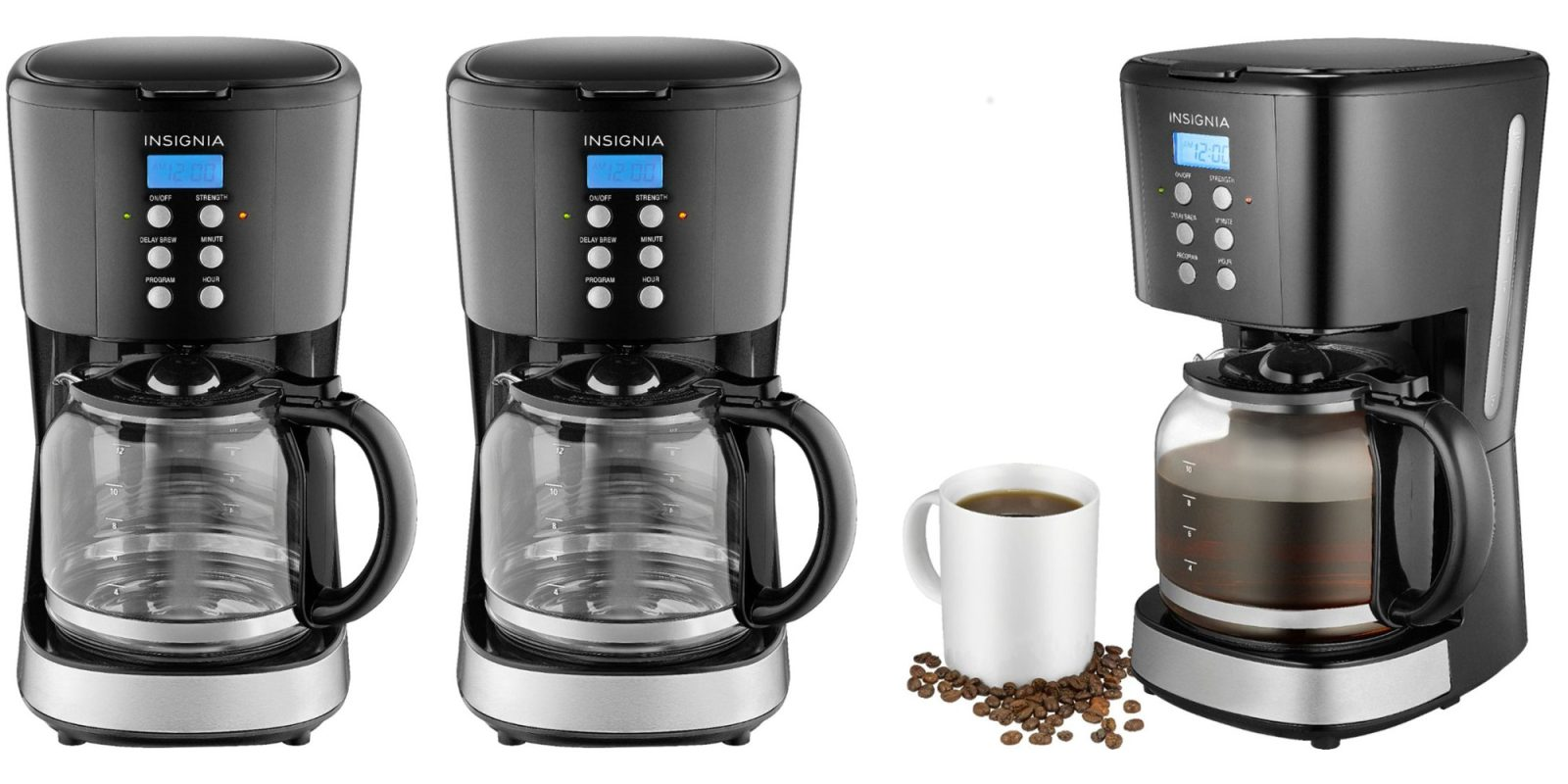 Bring a new Insignia 12-cup Coffee Maker home for just $20 (Reg. up to $40)