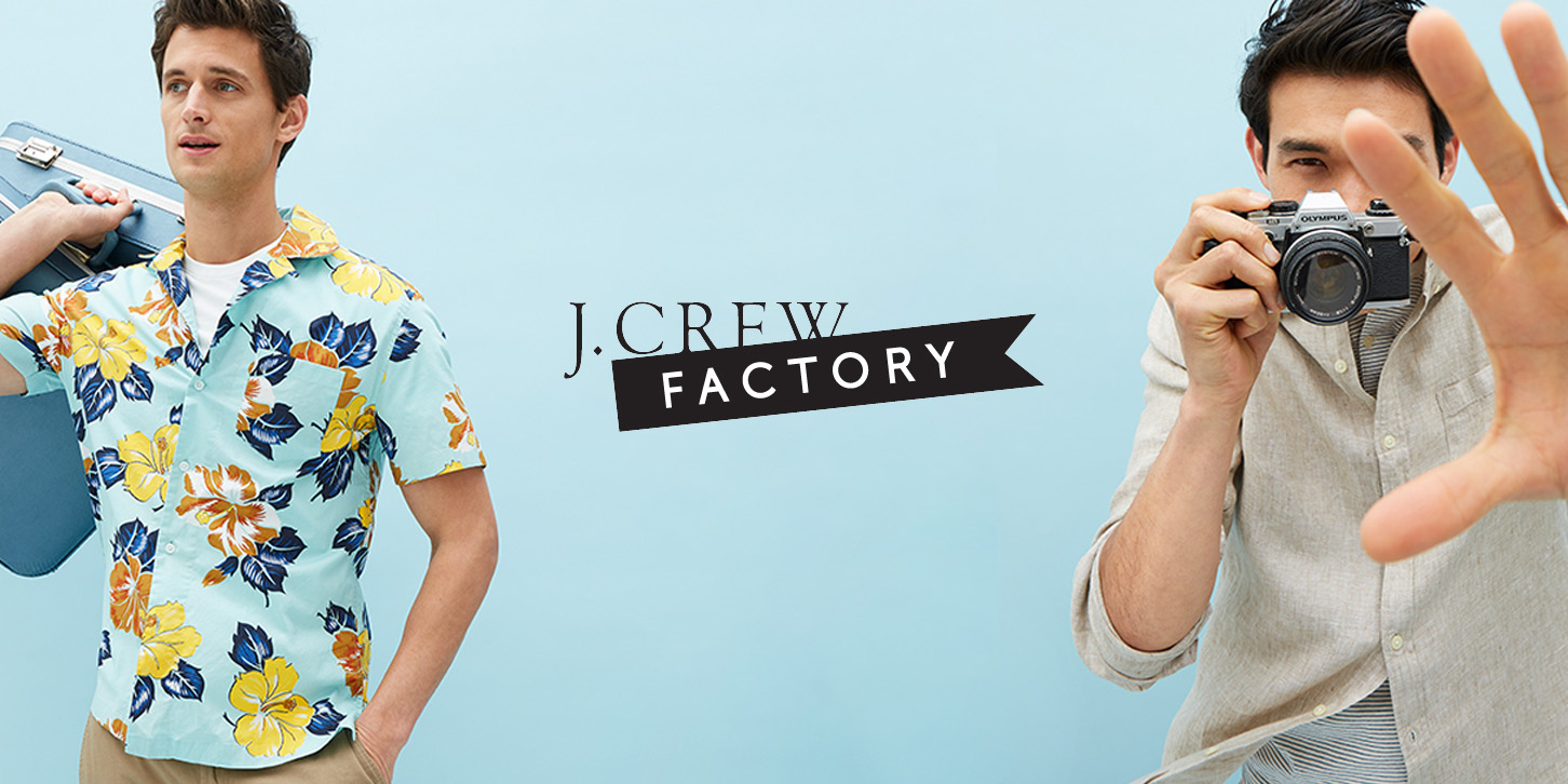 J.Crew Factory cuts an additional 50% off clearance items from just $12