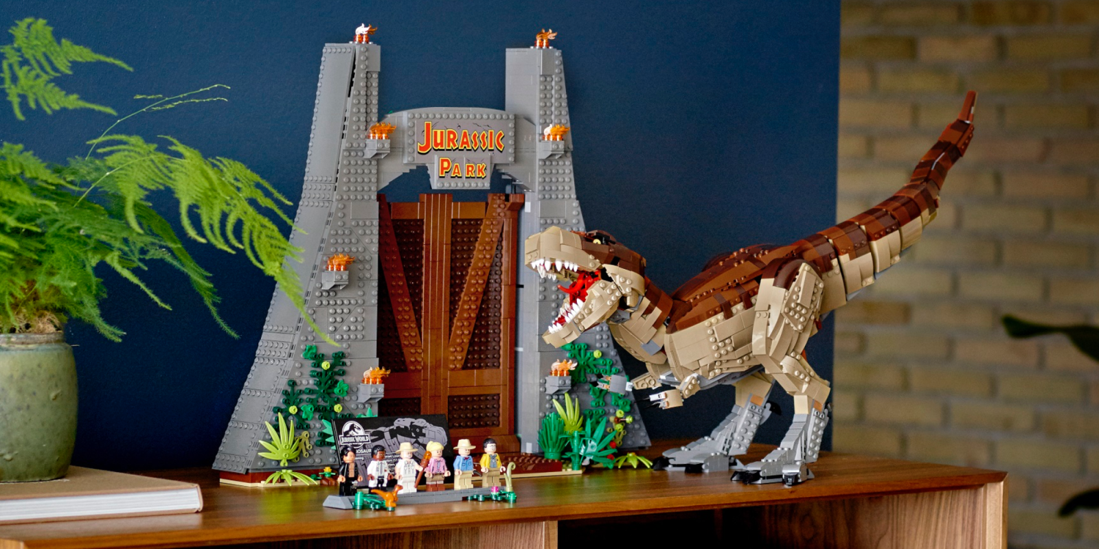 LEGO's new 3,100-piece T. rex Rampage is the largest Jurassic Park kit yet