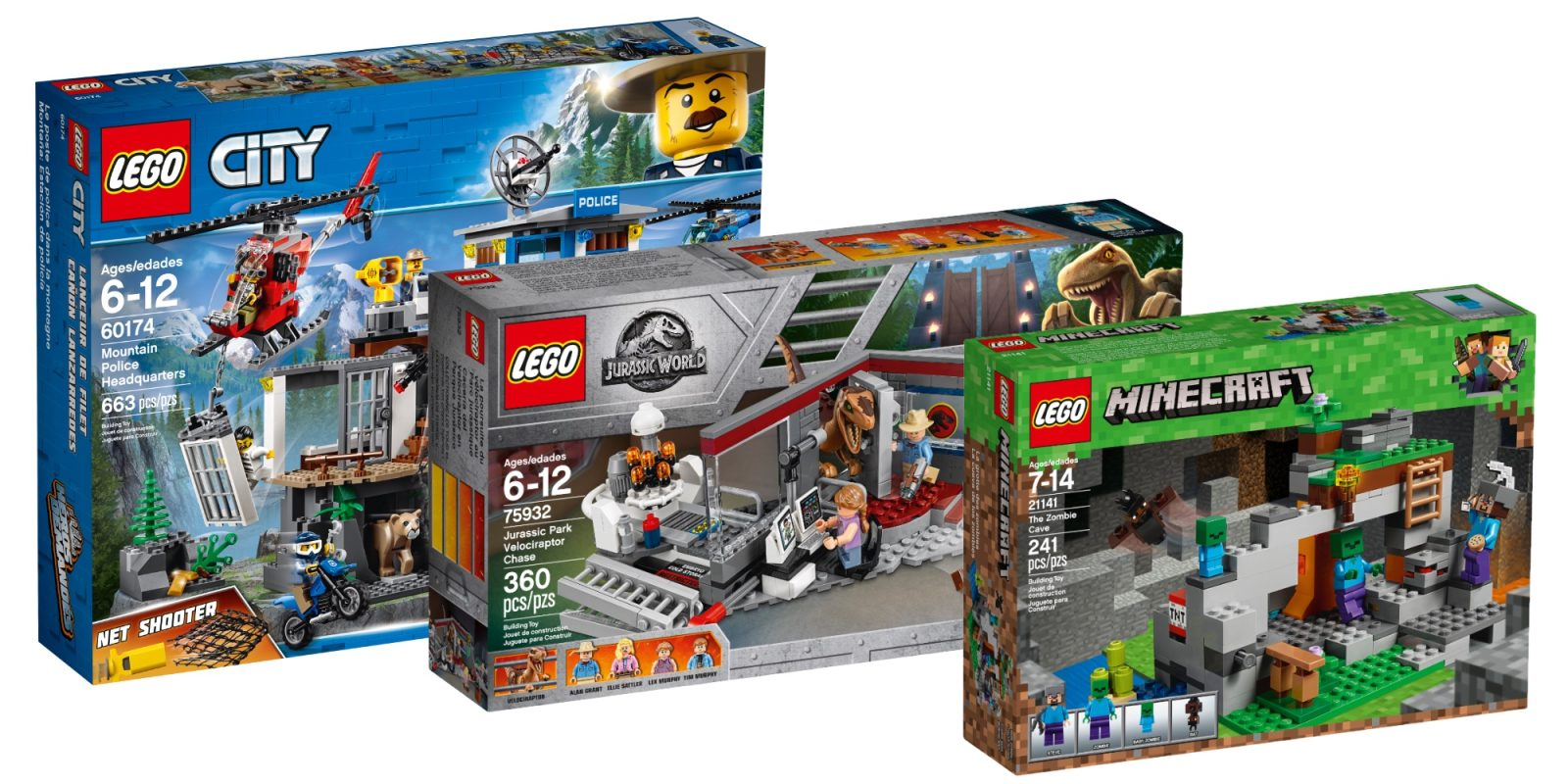 Assemble LEGO Jurassic Park, Creator, City, Minecraft kits and more from $7.50
